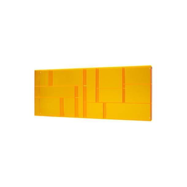 Stor Sættekasse I transparent Orange Akryl