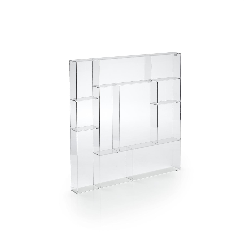 Kvadratisk Sættekasse I transparent Klar Akryl