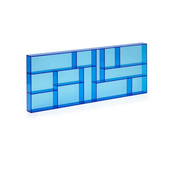 Lille Sættekasse I transparent Blå Akryl