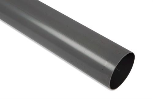 Nedløbsrør 3 meter i plast - Grå - 75 mm.